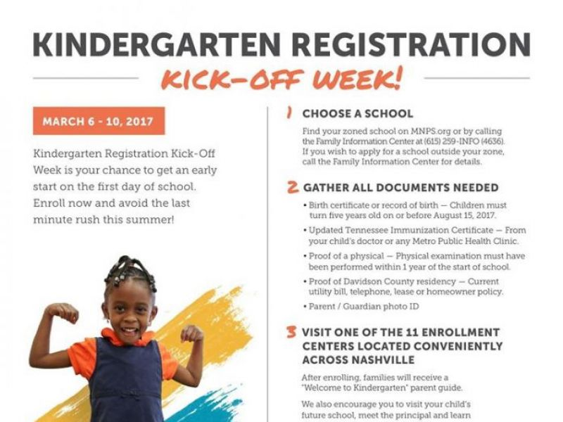 Metro Nashville Schools Kindergarten Kick-Off Set For March 6-10 ...