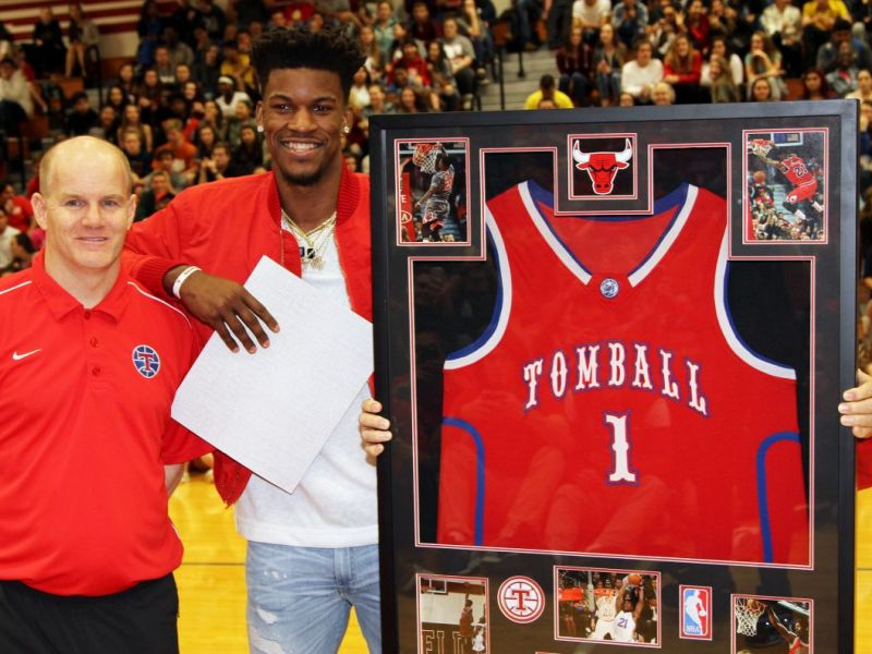 Tomball Cougars Retire Alumni Jimmy Butlers High School Jersey