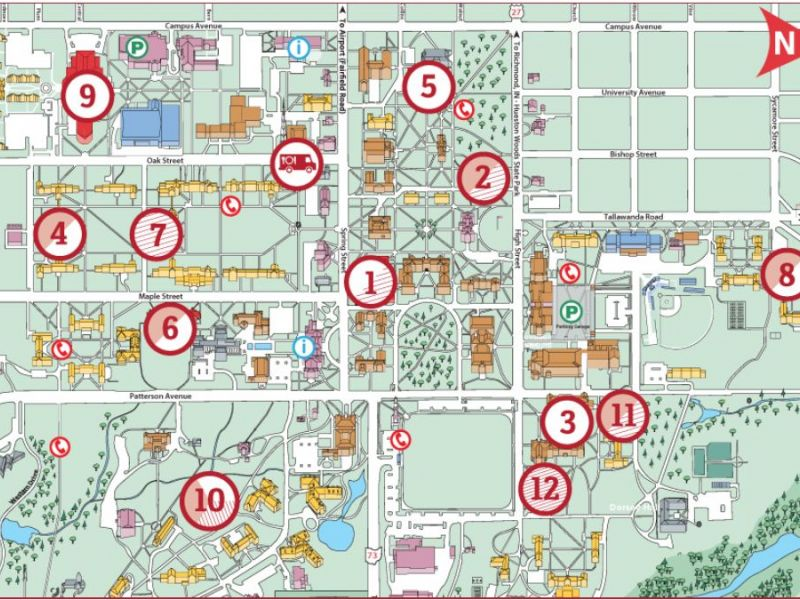 Miami Oxford Campus Map.Miami University Students Pushing For Changes In Meal Plans On