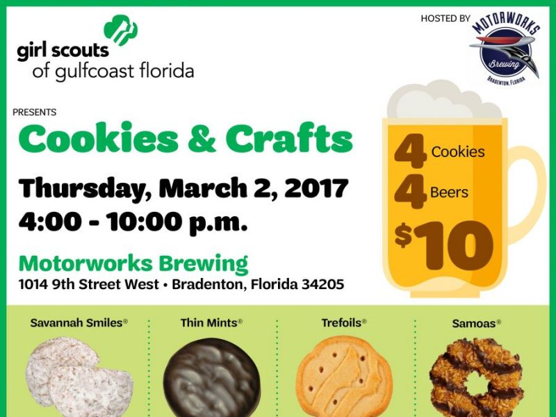 motorworks and girl scouts put a creative spin on cookies