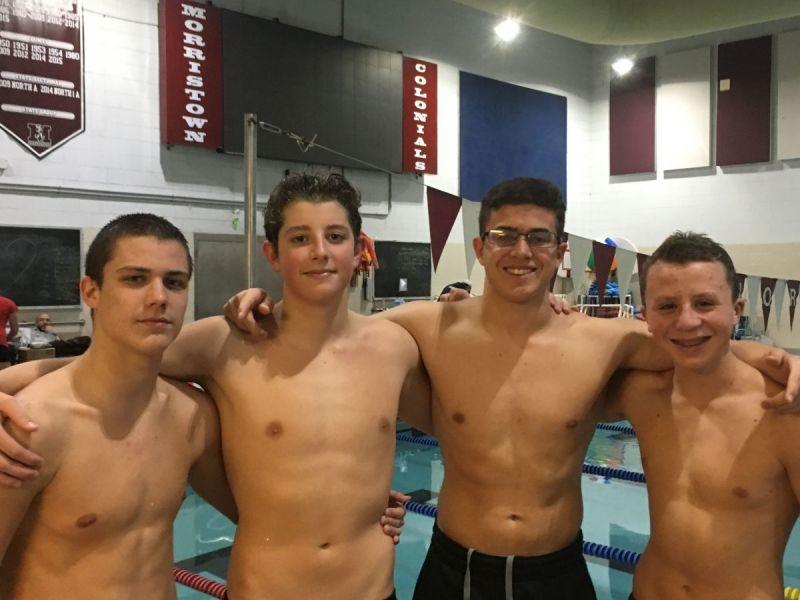 High School Boys Swimming West Morris Central Bo...