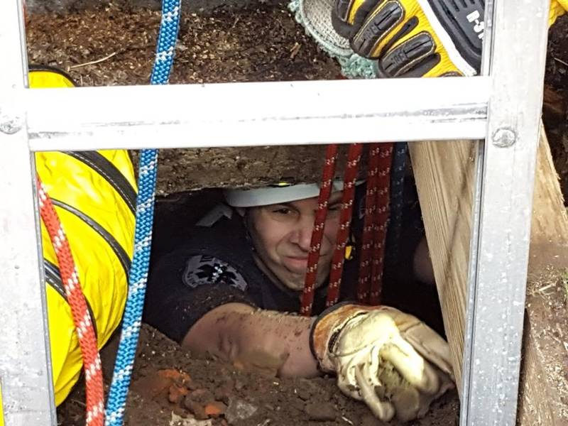 Dog Rescued From Madison Dry Well After Four Days Missing