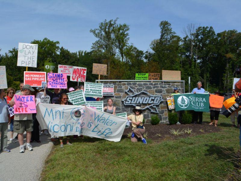 Sierra club lenape tribe protest dakota access pipeline - Mostardi s newtown square garden ...