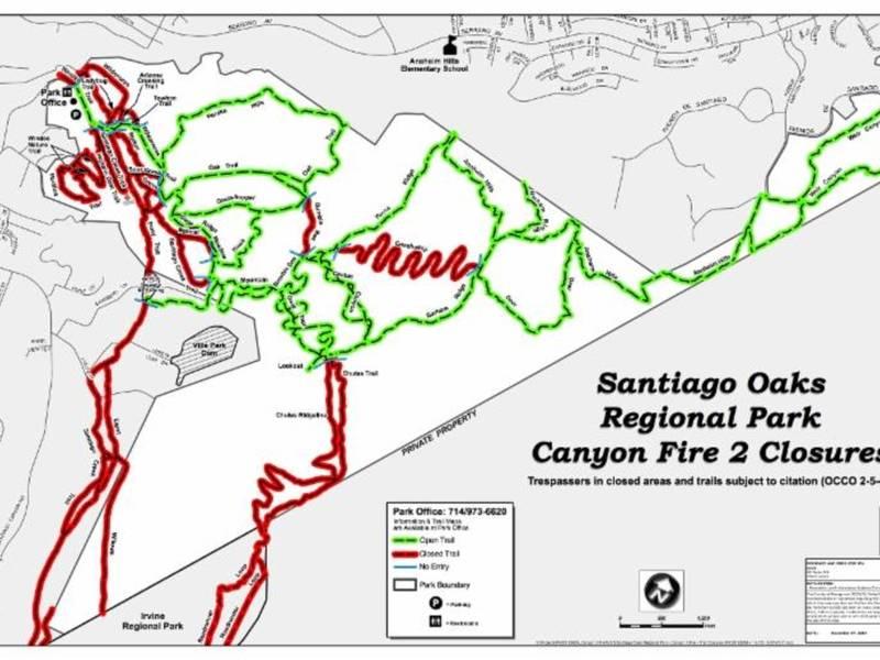 OPA Issues Update On Santiago Regional Park Canyon Fire 2 Orange