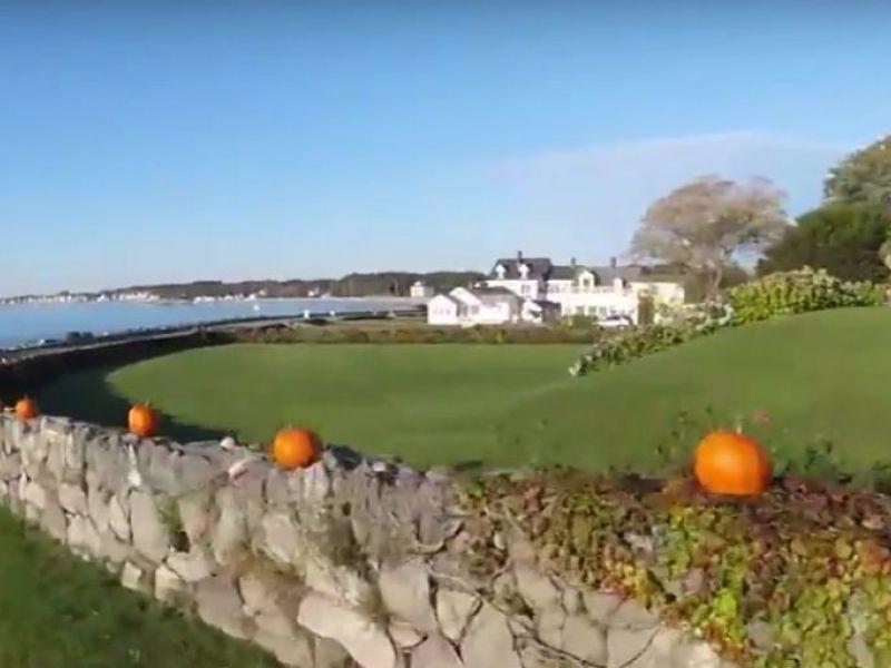 Watch Fall Pumpkins By The Atlantic Ocean In North