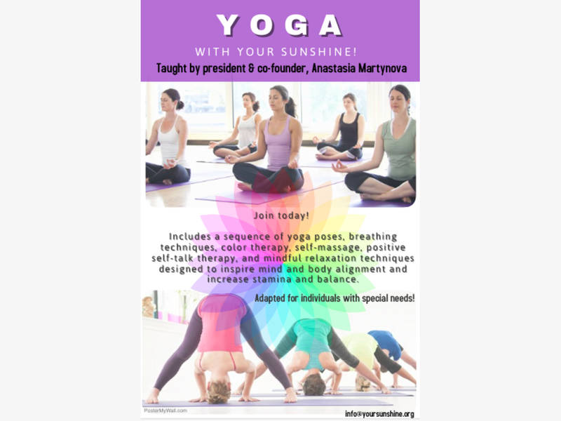 Oakton Organization Your Sunshine To Offer Adapted Yoga And Mindfulness Program In October 0