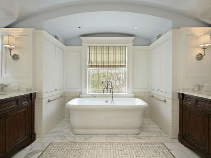 Image result for N.J. home makeover: A stunning master bathroom complete with a porcelain shower