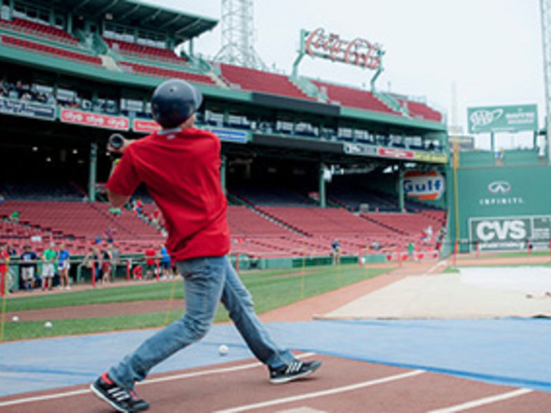 step up to plate for a shot at fenway s green monster patch
