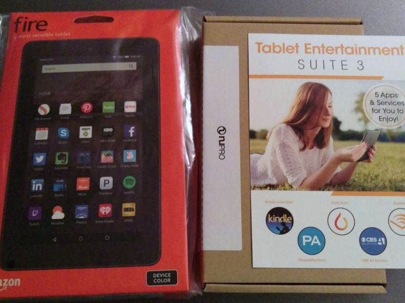AMAZON FIRE TABLET + Case + 5 Apps | ONLY $50 NEW UNOPENED
