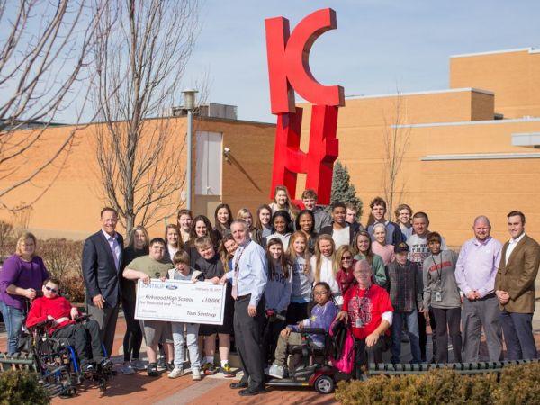 suntrup ford donates 10 000 to kirkwood high school. Black Bedroom Furniture Sets. Home Design Ideas