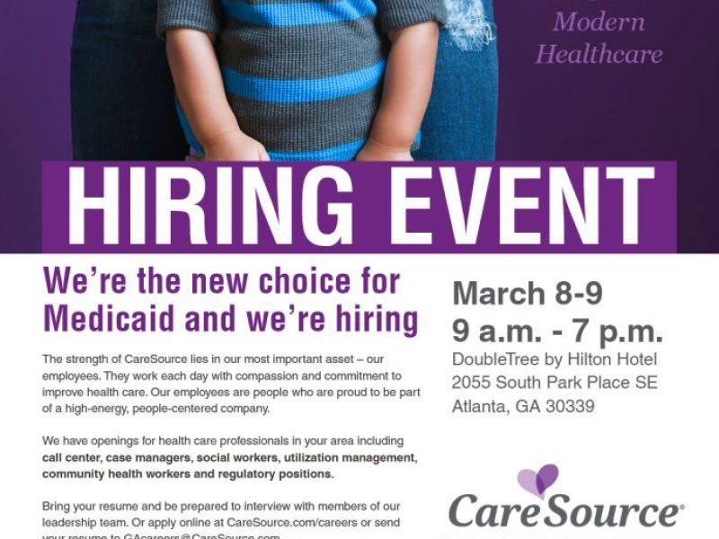 CareSource Hosts Metro Atlanta Job Fair on March 8-9 in Vinings ...