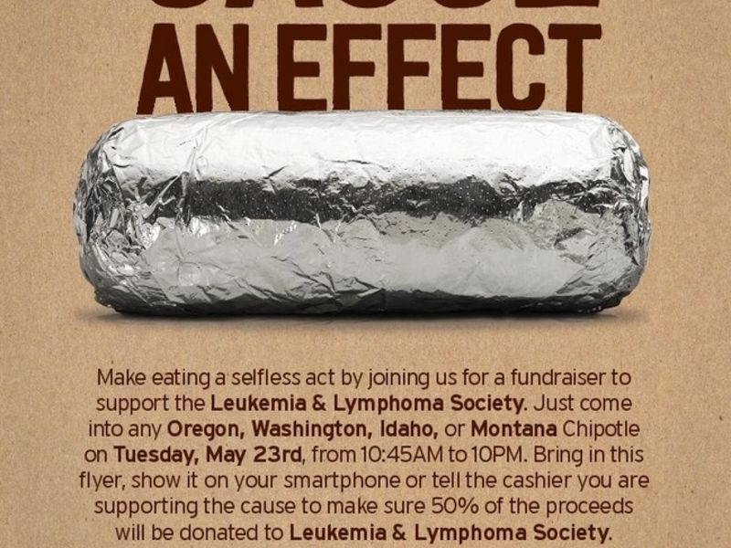 Eat a Burrito, Support Leukemia & Lymphoma Society Student Series - Boise, ID Patch