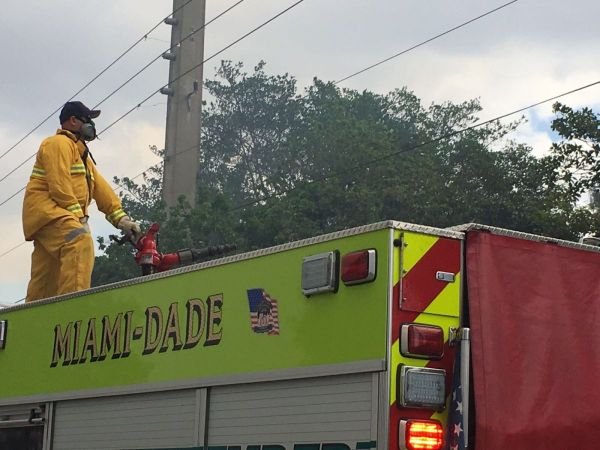 Fire Rescue Battles 15-Acre Brush Fire in Miami-Dade