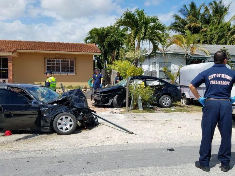 Florida Car Accident: 1 Dead, 6 Injured In Miami Crash
