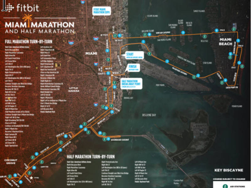 Miami Marathon 2018 Road Closures Miami FL Patch