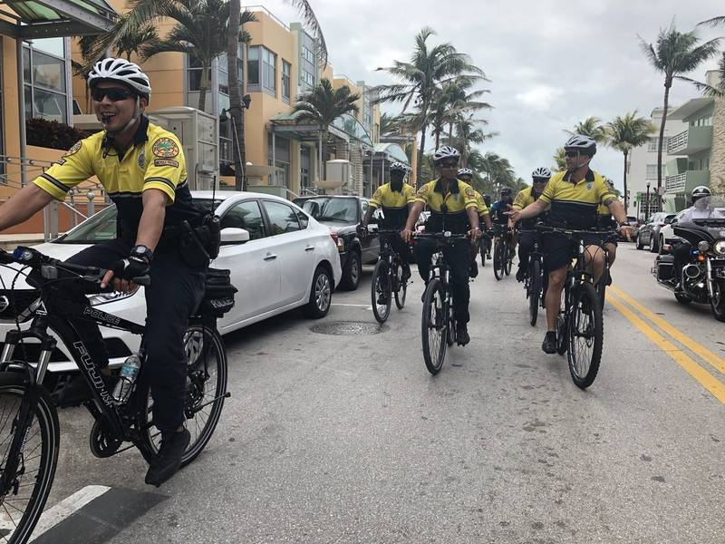 Unity Bike Ride Brings Police Together In Miami Beach
