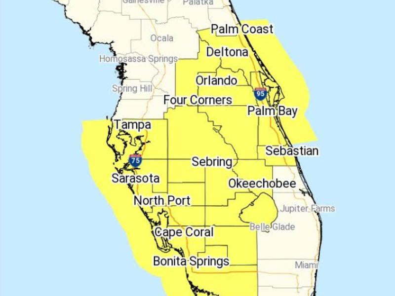 Florida Tornado Map.Central Florida Under Tornado Watch Lakeland Fl Patch