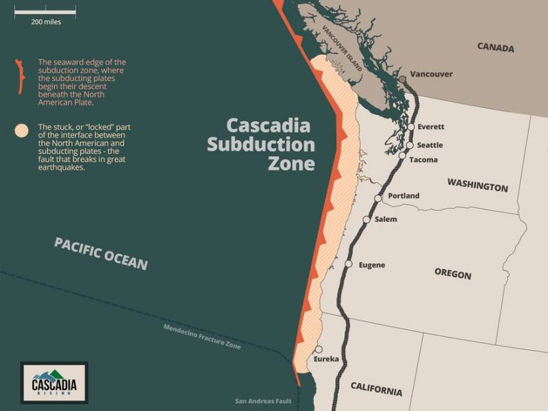 Risk Of Cascadia Quake Elevated As Puget Sound Slow Slip Event - Us map puget sound