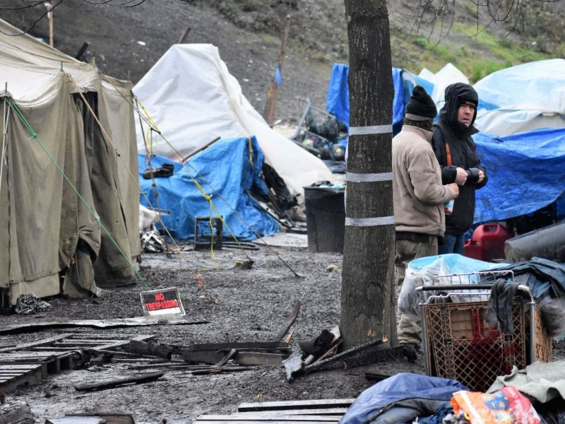 Photos: Seattle Clears 'The Field' Homeless Camp | Seattle ...