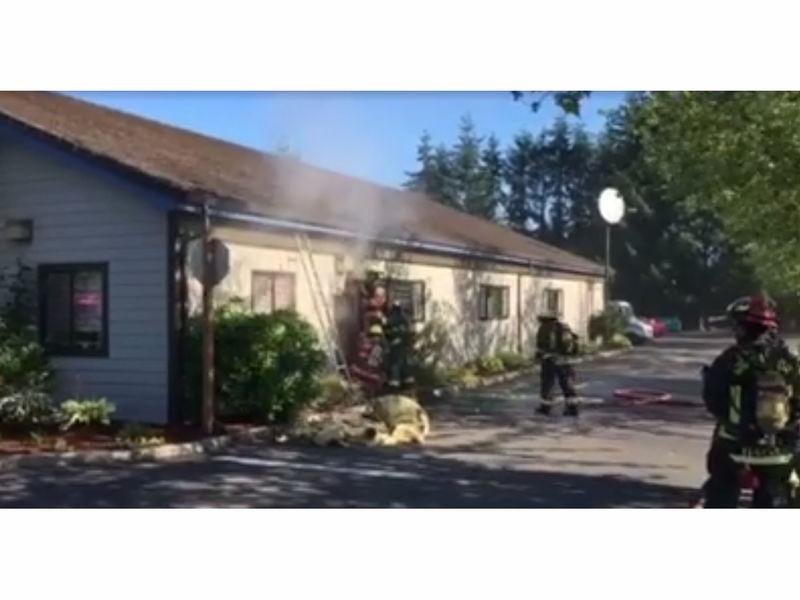 Video Wauna Post fice Fire Gig Harbor Firefighters Scene