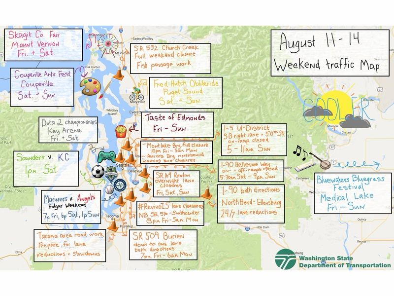 Puget Sound Weekend Traffic Mess In 1 Map Seattle Wa Patch
