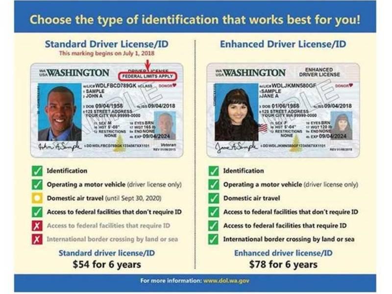 washington state drivers licence change