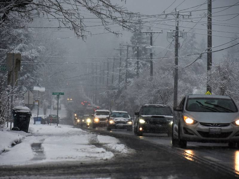Snow Today In Puget Sound? Here's What The Forecast Says