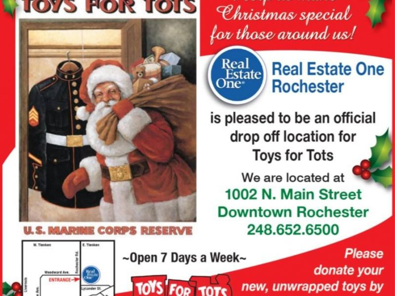 Real Estate One Rochester Toys For Tots Drop Off Location