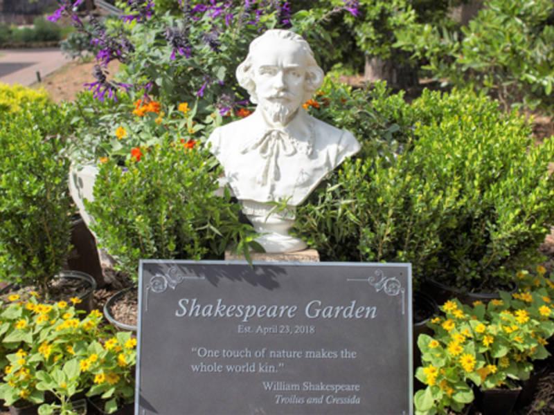 Mercer Botanic Gardens Opens Shakespeare Garden Humble
