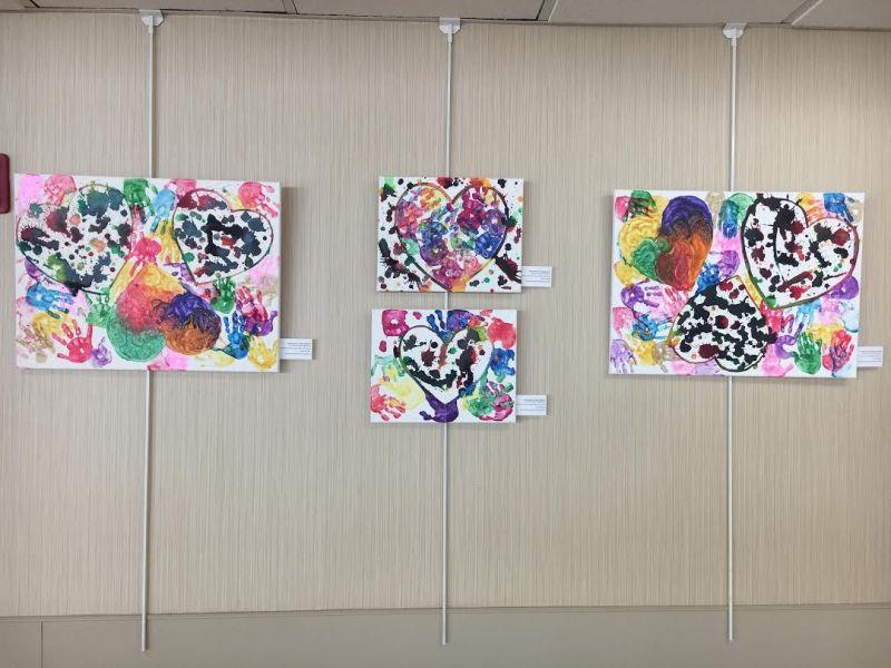 Mendham Cooperative Nursery School Student Artwork Exhibit Hands Hearts On Display