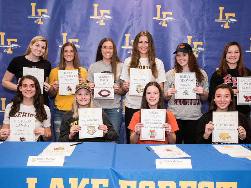 fall signing day  lfhs student