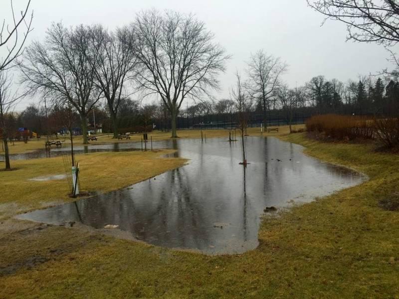 heavy rain  flooding closes highland park roads