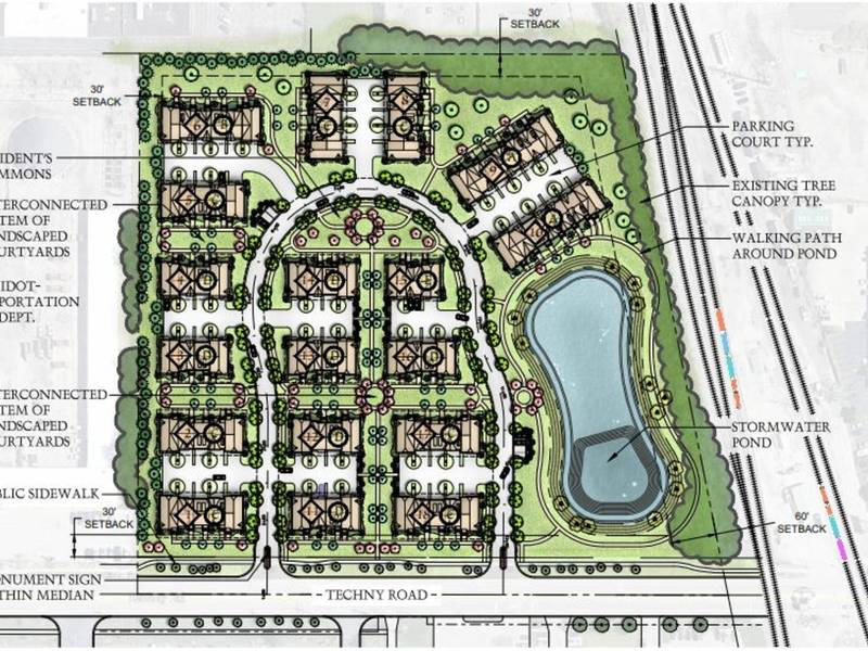 17fd56022f1 86-Unit Townhome Plan Floated For Maurice Sporting Goods Site ...