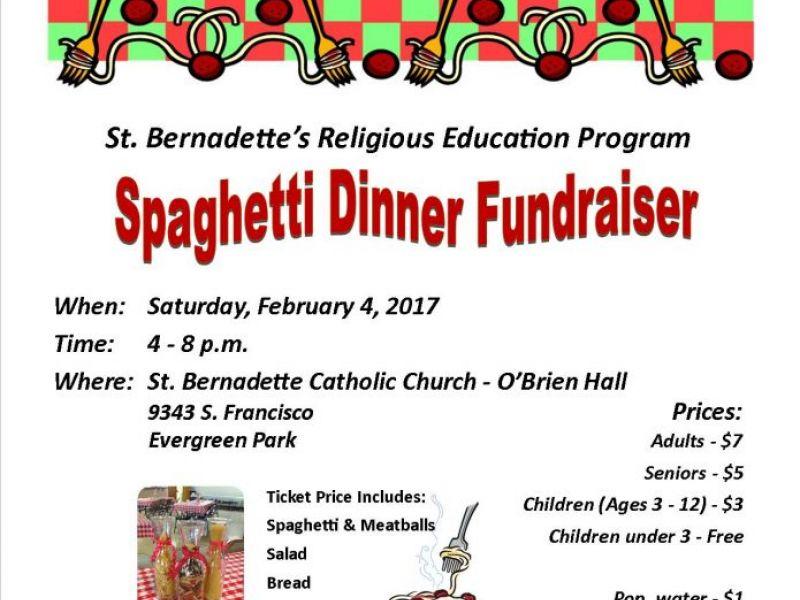 st bernadette s religious education program annual spaghetti
