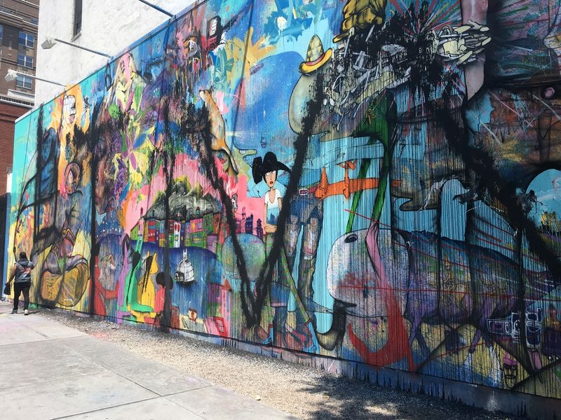 Mural by famed graffiti artist david choe defaced on lower for David choe mural