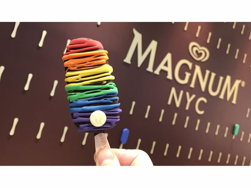 Magnum Launches Pride Ice Cream Bar At Meatpacking Store