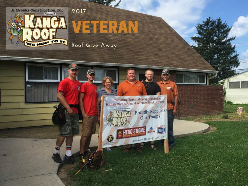 A Brooks Construction Kanga Roof Awards Another Veteran A