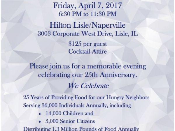 West suburban community pantry hosts 25th anniversary gala for Woodridge food pantry il