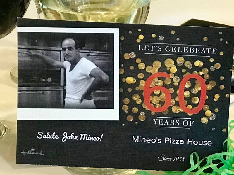 Mineos Pizza Plans Huge 60th Birthday Bash