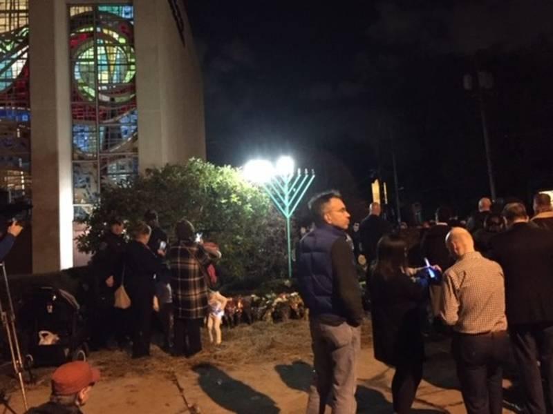 Tree Of Life Menorah Lighting Provides Strength Through Unity