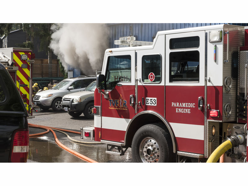 ... Hu0026H Auto Body Shop Catches Fire In Tigard  ...