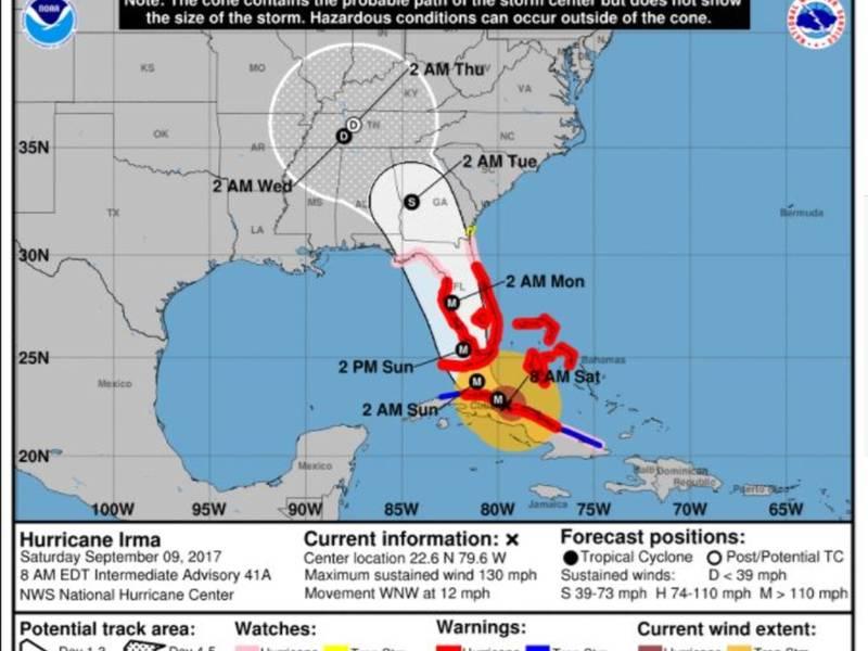 hurricane irma  will it reach charlotte