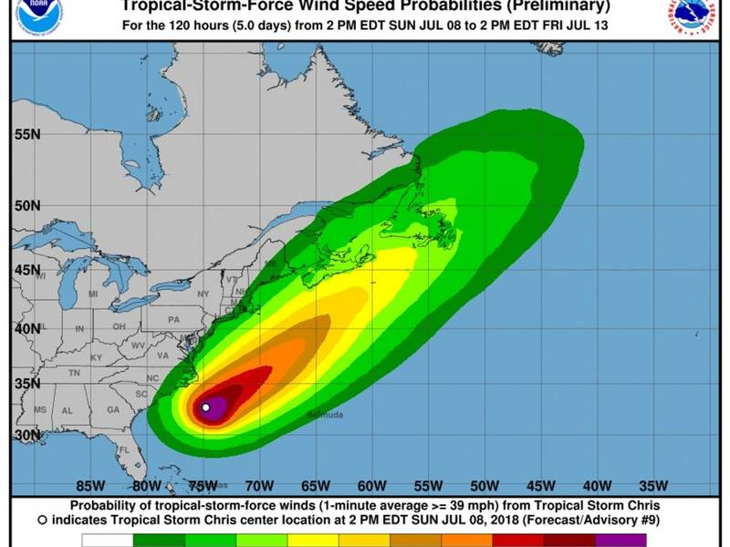 tropical storm off nc coast will become hurricane monday