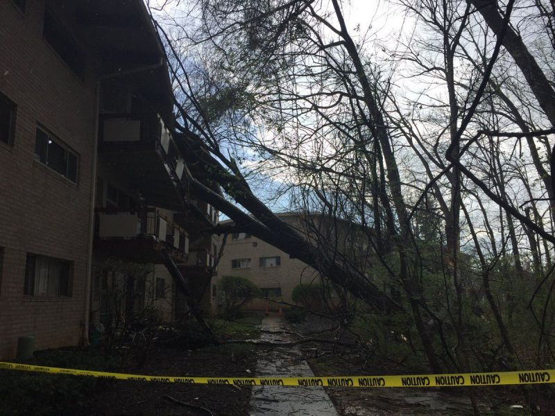 Thunderstorm Causes Outages Other Damages In Fairfax