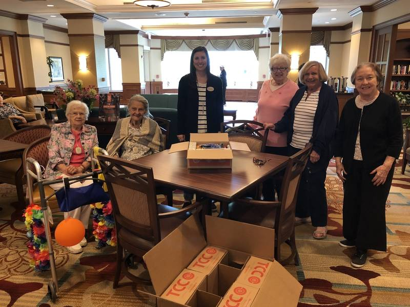 Seniors Gifted Crayons Adult Coloring Books In Glen Ellyn