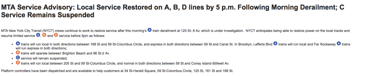 nyc subway derailment how your evening commute is affected