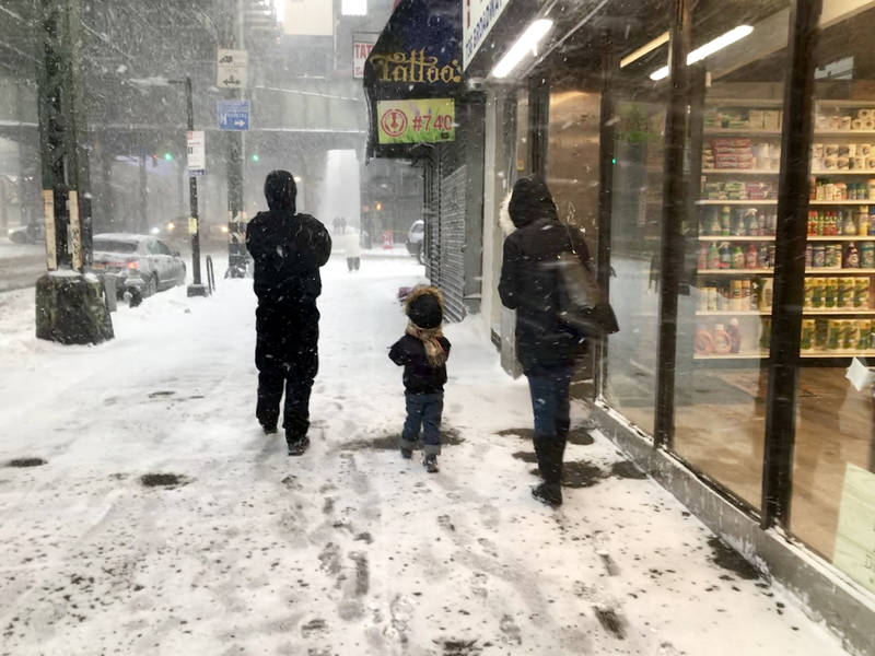 nyc weather forecast  snow to make for messy commute