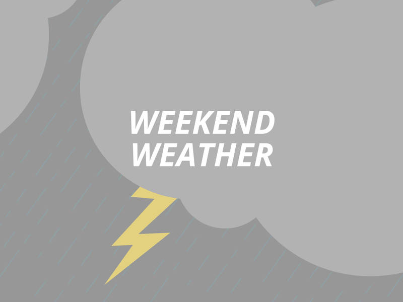 crystal lake weekend weather  rain  possible storms and