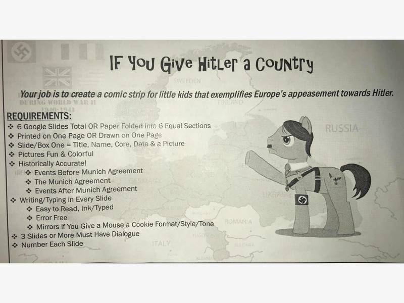 Gurnee School Apologizes For Hitler Cartoon Assignment Grayslake