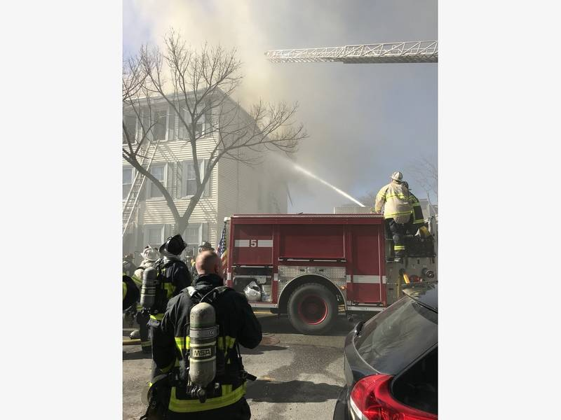 Firefighter 4 Residents Injured In 3 Alarm East Boston Fire
